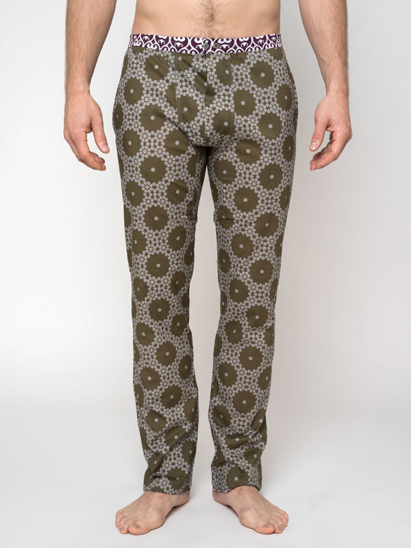 MILITARY FLOWERSLeisure Pants